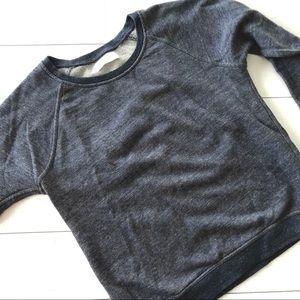 Everlane || Heathered Blue Gray Crew Sweatshirt M
